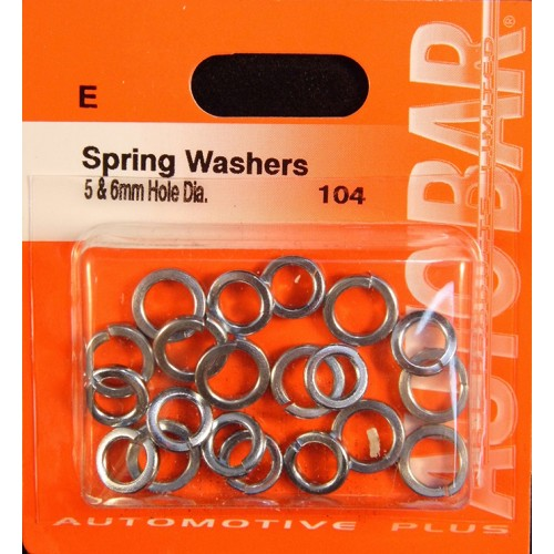 SPRING WASHERS 5MM  6MM