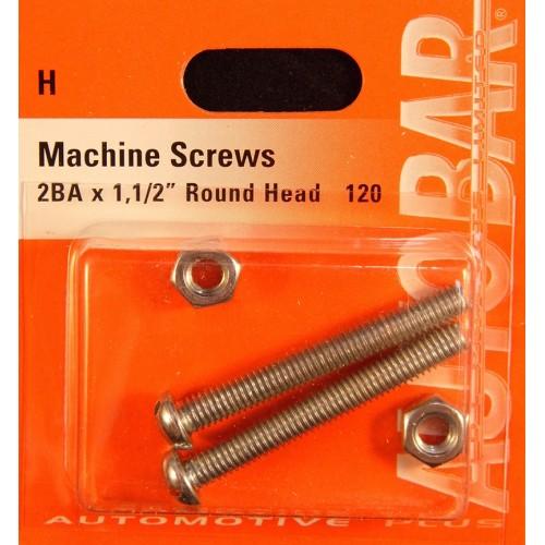 MACHINE SCREWS 2BA X 1 1/2