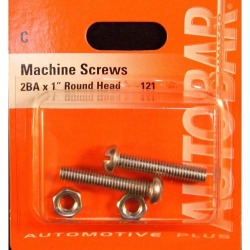 MACHINE SCREWS 2BA X 1