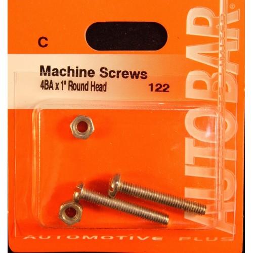 MACHINE SCREWS 4BA X 1