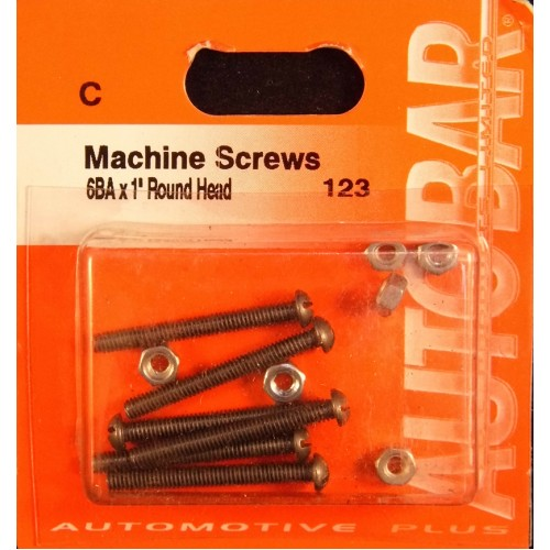 MACHINE SCREWS 6BA X 1