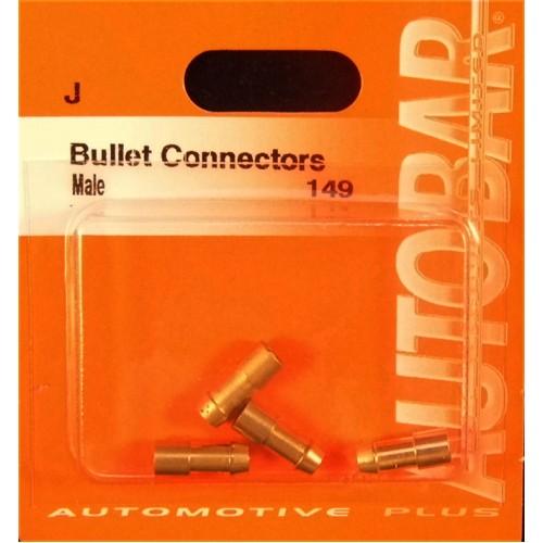 BRASS MALE BULLET CONNECTORS