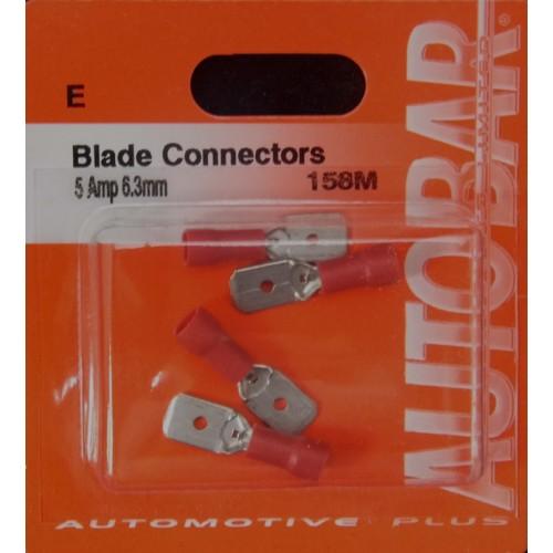 MALE BLADE 6.3MM 5 AMP