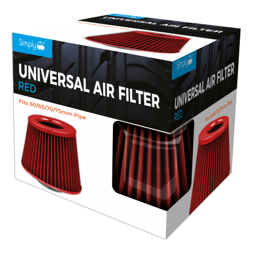 UNIVERSAL AIR FILTER RED GAUZE RED TOP