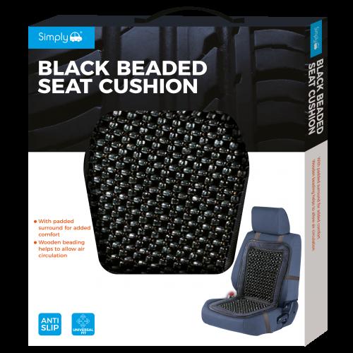 BLACK BEADED SEAT CUSHION