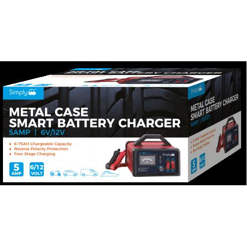 6/12V 5AMP METAL CASED BATTERY CHARGER