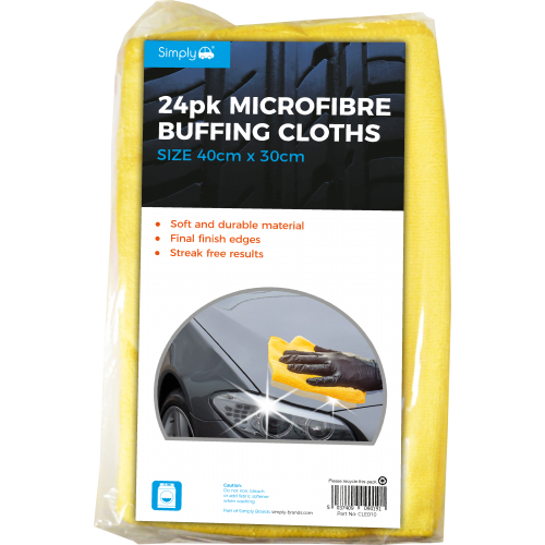 24PK MICROFIBRE CLOTHS