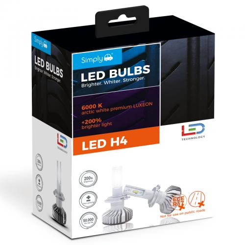 H4 LED BULBS