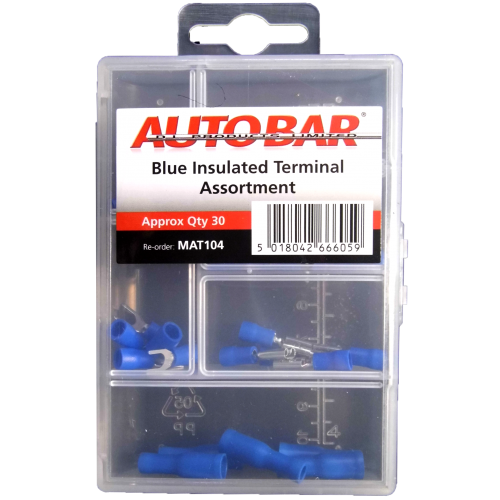 MINI ASSORTED TRAY BLUE INSULATED TERMINALS