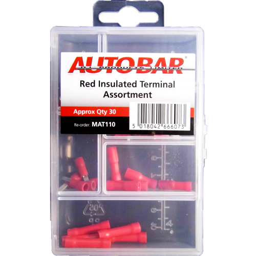 MINI ASSORTED TRAY RED INSULATED TERMINALS